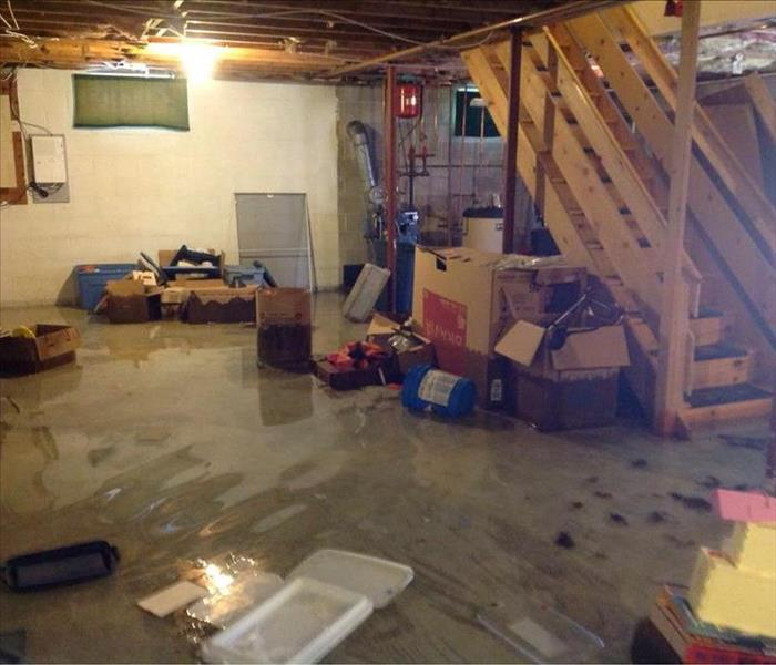 Multiple Inches of Standing Water Take Over Cumberland County Basement Before