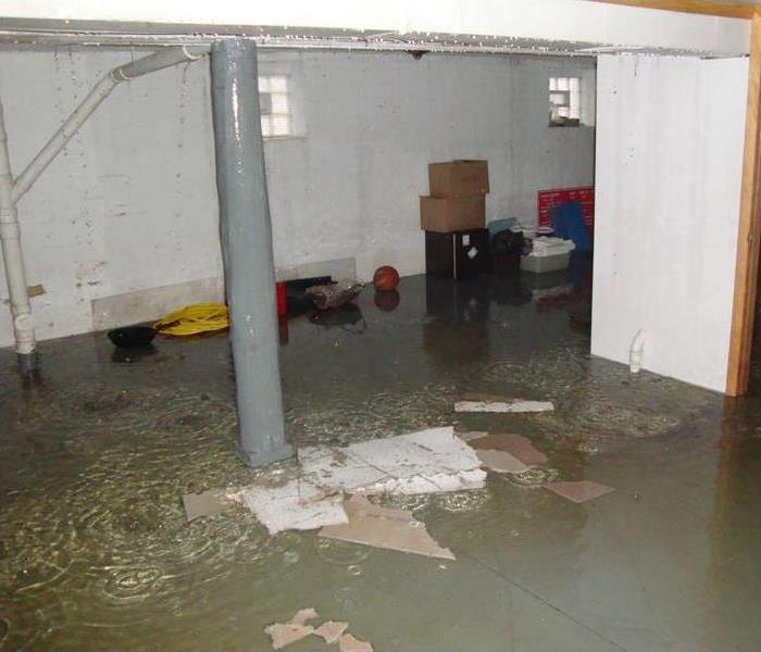 Water Damage Flooded Basement in Vineland