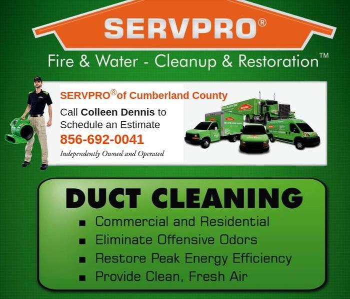Cleaning The SERVPRO® Duct Cleaning Process