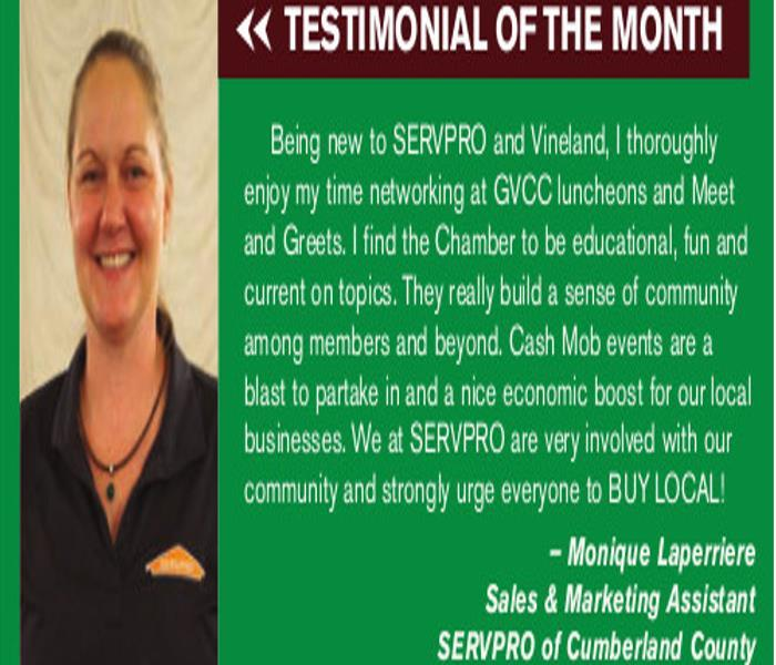 Community SERVPRO gets Testimonial of the Month in Grapevine